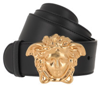 Gürtel Emblem Belt Nero/Oro schwarz