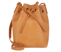 Beuteltasche Mini Bucket Bag Cammello/Rosa cognac