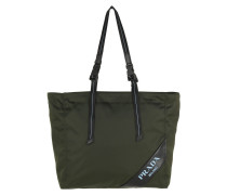 Shopper Logo Patch Shopping Bag Nylon Militare grün