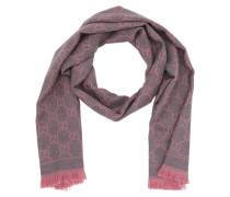GG Jacquard Pattern Knitted Scarf Rose/Multi Schal
