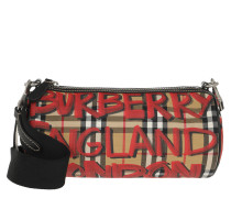 Printed Barrel Shoulder Bag Black Tasche rot