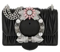 Miu Lady Matelassé Shoulder Bag Nappa Leather Black Tasche