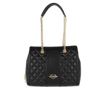 Quilted Nappa Shoulder Bag Nero Tote