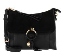 Umhängetasche Joan Grained Leather Bag Black schwarz