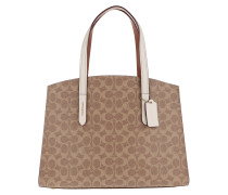Tote Coated Canvas Signature Charlie Carryall Chalk beige