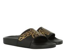 W Rubber Slide Slip On Black Schuhe