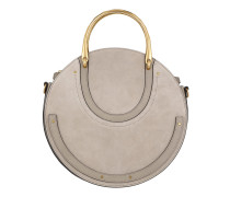 Pixie Bag Suede Motty Grey Tote