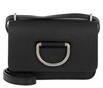 Umhängetasche The Mini D-Ring Bag Leather Black 2 schwarz
