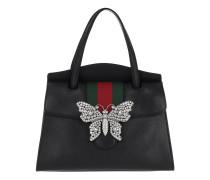 GucciTotem Medium Top Handle Bag Black Tote