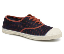 Tennis Pois Lainage Sneaker in blau