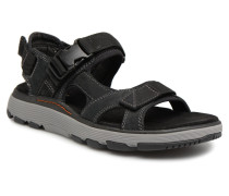 Un Trek Bar Sandalen in schwarz