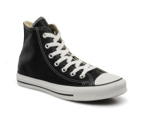 Chuck Taylor All Star Leather Hi W Sneaker in schwarz