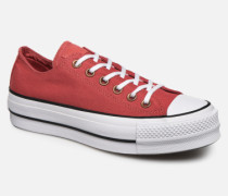 Chuck Taylor All Star Lift Canvas Ox Sneaker in rot
