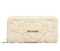 Portefeuille Love Intarsia in weiß