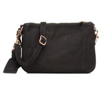 Crossbody Lune 2 Zips Handtasche in schwarz