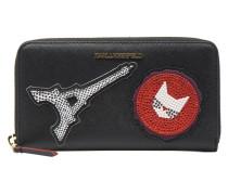 Paris Zip Wallet in schwarz