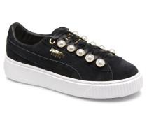 Platform Bling Wns Sneaker in schwarz