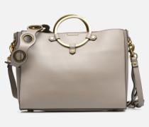 Ring Satchel Handtasche in beige