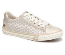 1146310in243 Ivory Sneaker in goldinbronze