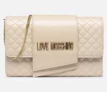 NEW SHINY QUILTED Handtasche in beige