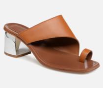 Mule asymétroque talon bold Clogs & Pantoletten in braun