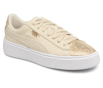 Basket Platform Canvas Wn's Sneaker in goldinbronze