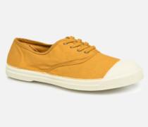 Tennis Lacets Sneaker in gelb