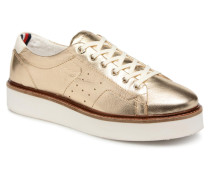 METALLIC HYBRID LEATHER SNEAKER Sneaker in goldinbronze