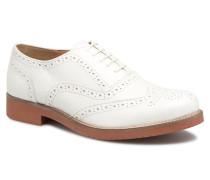 ALBANY Oxford Brogue Metal Schnürschuhe in weiß