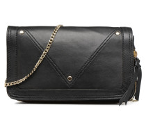 Face Leather Crossbody Handtasche in schwarz