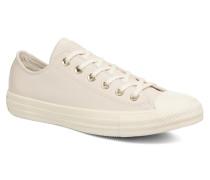 Chuck Taylor All Star Blocked Nubuck Ox Sneaker in weiß