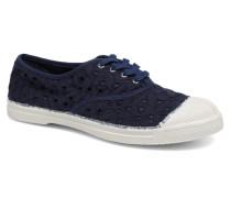 Tennis Broderie Anglaise Sneaker in blau