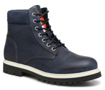 ICONIC TOMMY JEANS SUEDE BOOT Stiefeletten & Boots in blau