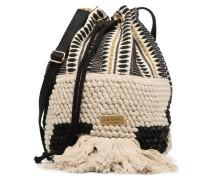 Seau Bicolore Handtasche in schwarz