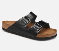 Arizona Cuir Soft Footbed M Sandalen in schwarz