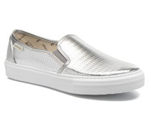 Slipon Metalizada Sneaker in silber