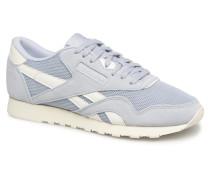 Classic Nylon Mesh Sneaker in blau