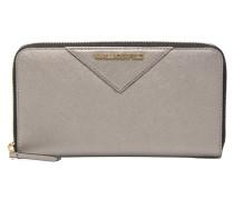 Klassik Zip around Wallet in silber