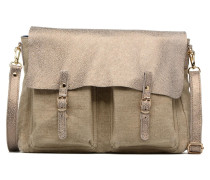 Maxi Maths Lin & Cuir Réversible Handtasche in beige