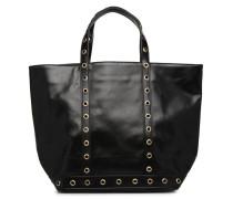 Cabas Œillets Cuir M Handtasche in schwarz