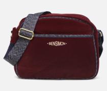 SHINY VELVET SMALL BESACE Handtasche in weinrot