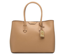 City Tote Embossed Leather Handtasche in braun