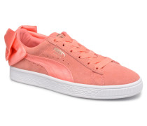 Suede Bow Wn's Sneaker in rosa