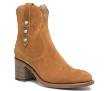 Mansory 7 West Zip Boot Nail Stiefeletten & Boots in beige