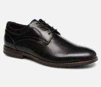 Dustyn Plain Toe Schnürschuhe in schwarz