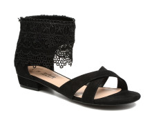 Lila Sandalen in schwarz