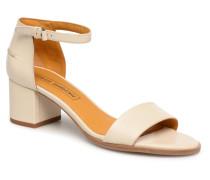 Sandales à petit talon Sandalen in beige