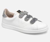 Tenis Velcros Glitter Sneaker in weiß