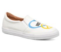 Cut Out SlipOn Sneaker in weiß