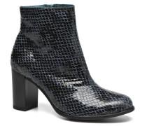 GLAGOS #Cobra CARBONE ~Doubl & 1ere CUIR Stiefeletten Boots in schwarz